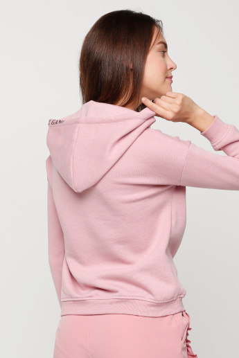 Embellished Sweatshirt with Long Sleeves and Hood