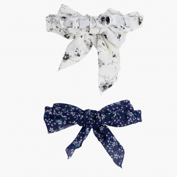 Printed Bow - Set of 2
