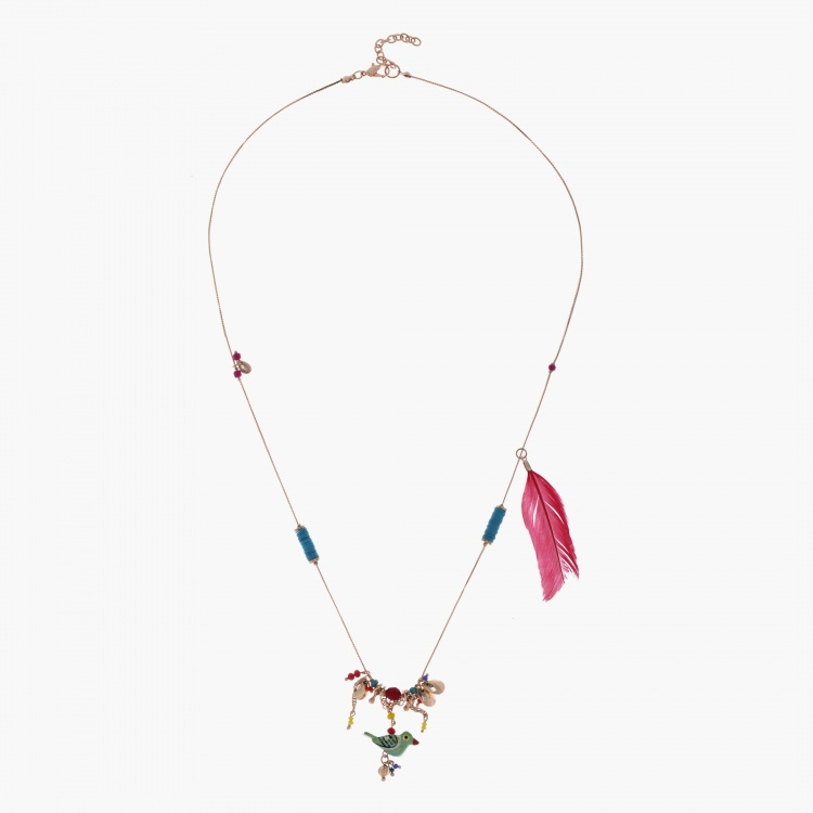 Long Necklace with Lobster Clap Fastening