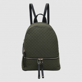 Iconic Quilted Backpack with Zip Closure
