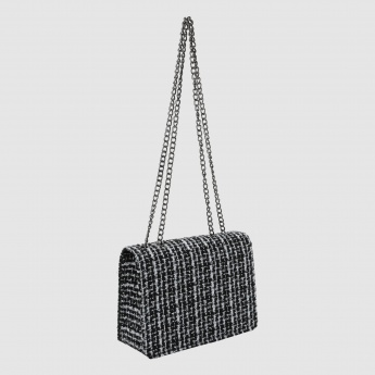Iconic Textured Crossbody Bag with Beads