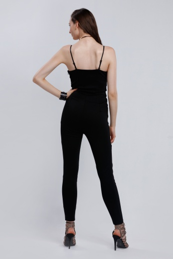 Iconic Full Length Jumpsuit with Spaghetti Straps