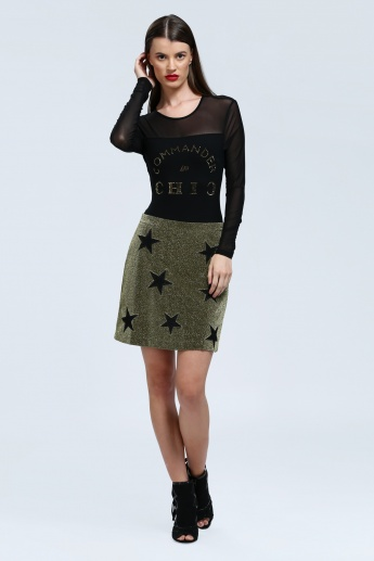Iconic Knee Length Skirt with Elasticised Waistband