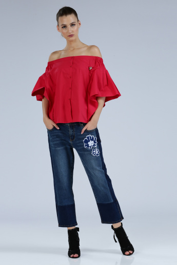 Iconic Wide Leg Jeans with Pocket Detail