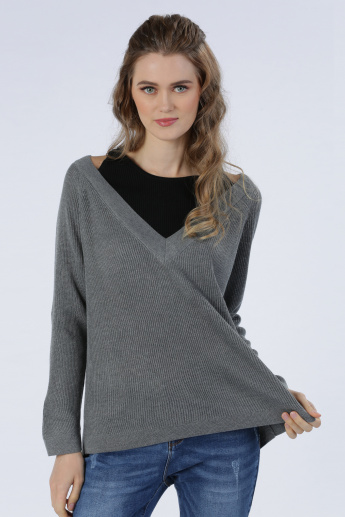 Iconic Long Sleeves Top with Ribbed Inner Wear
