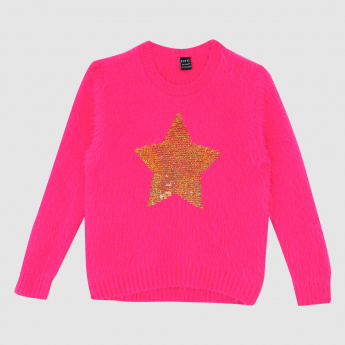 Iconic Embellished Sweater with Long Sleeves