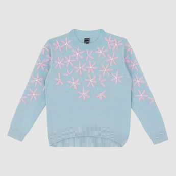 Iconic Embroidered Sweater with Long Sleeves