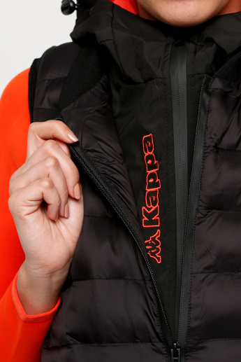 Kappa Sleeveless Quilted Jacket with Pocket Detail