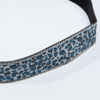 Beaded Hair Band with Elasticised Backstrap
