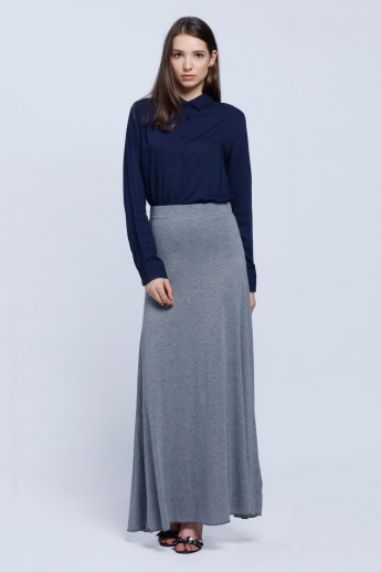 Long Skirt with Elasticised Waistband