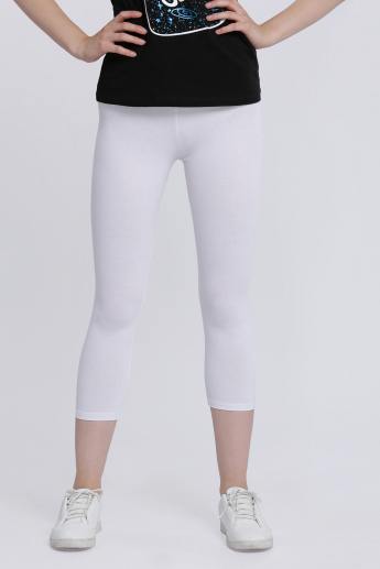 3/4 Length Leggings with Elasticised Waistband