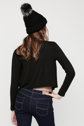 Open Front Shrug with Long Sleeves