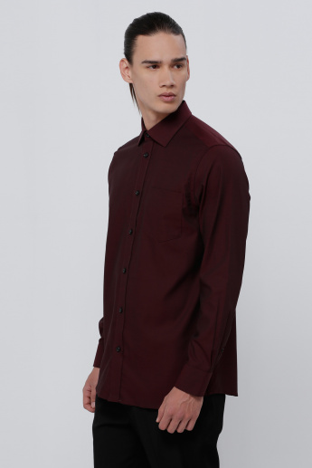 Long Sleeves Shirt with Pocket Detail