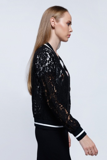 2Xtremz Lace Jacket with Zip Closure