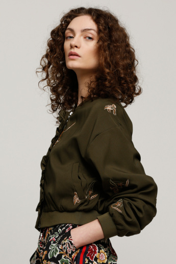 Embroidered Jacket with Long Sleeves